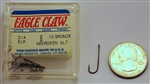 Eagle Claw Bronze Extra Light Wire Aberdeen Hooks Size-8 214ELR-8 10 Pack