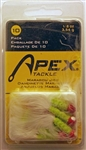 Apex 1/8oz Marabou Jigs MJ-1/8-CHRD/A (Chartreuse/Red)