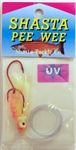 "Shasta Pee Wee 2"" Hoochie Rig PW-UV-FO (UV Flame Orange)"