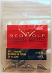 Red Wolf - Bass Casting Dipsey Sinkers - Size 9  3/16oz RWBCS316