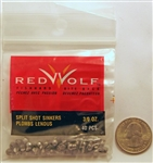 Red Wolf - Removable Split Shot - Size 3/0 RWSPSH3/0