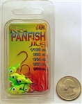 Ric's Panfish Crappie Jig Heads 1/16oz WAH-MH16-LC Lime Chartreuse