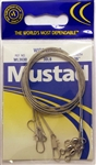 "Mustad Wire Leaders 36"" 30lb WL3630 Interlock Snaps"
