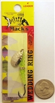Mack's Wedding Ring Classic Spinner Bait #6 Hook 09120 Hammered Nickel /Flo Chartreuse