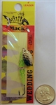 Mack's Wedding Ring Classic Spinner Bait #8 Hook 09180 Hammered Nickel/Flo Chartruese