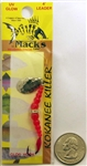 Mack's Kokanee Killer Spinner Bait #6 Hook 16200 Hammered Nickel /Flo Orange