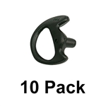 Black Semi-Custom Ear Insert EarMold - Molded Earpiece - 10 Pack