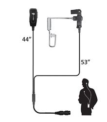 Investigator QD Two-Wire Patrol Kit Microphone