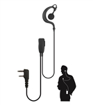 Watchman-K Lapel Microphone for Kenwood/Baofeng 2 Pin Radios