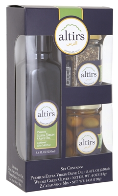 Combination Pack Olive Oil, Za'atar and Green Olives