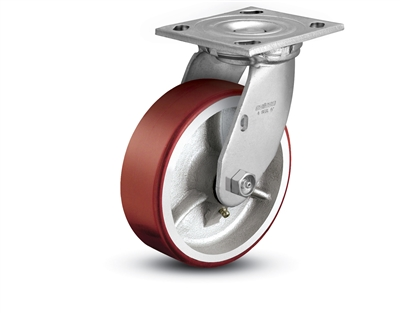 Heavy Duty Polyurethane on Cast Iron Swivel Caster