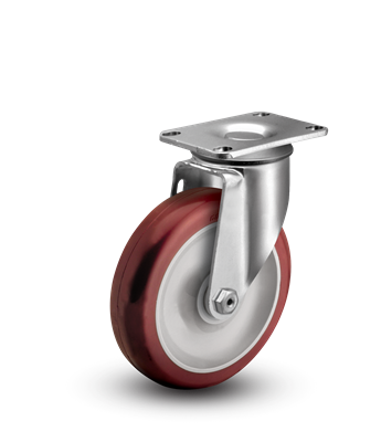 Medium Duty 3x1-1/4 Polyurethane Swivel Caster