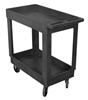 Plastic Service Cart 16X30 2-shelf