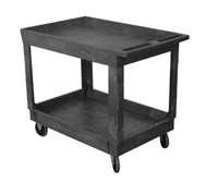 Plastic Service Cart 24X36 2-shelf