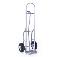 Steel Single Pin Handle Hand truck 10in. Pnuematic Wheels