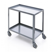 Steel 2 Shelf Cart 18X30: Four Swiveling Casters