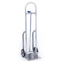 Aluminum Hand Truck 8in. No-Marking Rubber Wheels
