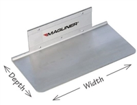 Extruded Aluminum Nose Blade 14inch x 9inch with Cut-Outs