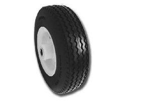 "Flat Free Tire Asembly 2.80/2.50-4 with 2.25"" Hub contains 3/4"" Ball Bearings"