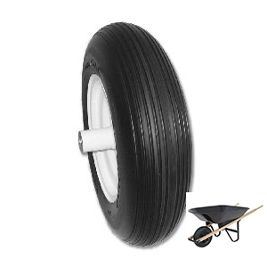USA Made - Flat Free Wheelbarrow Tire
