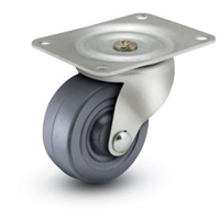 General Duty 3x1-1/4 Hard Rubber Swivel Caster