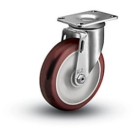 Medium Duty 3-1/2x1-1/4 Polyurethane Swivel Caster