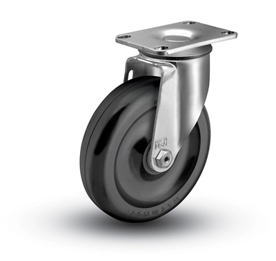 Medium Duty 3-1/2x1-1/4 Polyolefin Swivel Caster