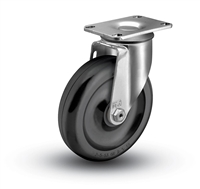 Medium Duty 5x1-1/4 Polyolefin Swivel Caster