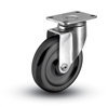 Stainless Steel Medium Duty 4x1-1/4 Polyolefin Swivel Caster