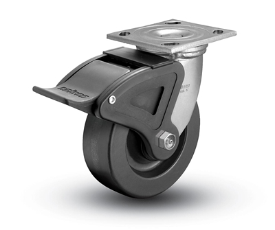 Heavy Duty 4x2 Phenolic Swivel Caster with Total Caster Brake