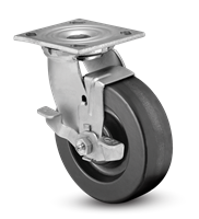 Heavy Duty 4x2 Phenolic Swivel Caster with Top Lock Brake