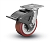 Heavy Duty 4x2 Polyurethane Swivel Caster with Total Lock Brake