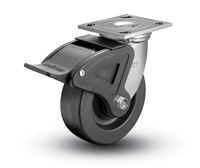 Heavy Duty 5X2 Phenolic Swivel Caster with Total Caster Brake