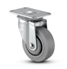 Medium Duty 3 x 1-1/4 Thermo-Plastic Rubber Swivel Caster