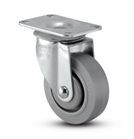 Medium Duty 3-1/2x1-1/4 Thermo Plastic Rubber Swivel Caster