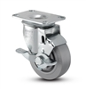 Medium Duty 4x1-1/4 Thermo Plastic Rubber Swivel Caster with Top Lock Brake