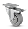 Medium Duty 4x1-1/4 Thermo Plastic Rubber Swivel Caster with Total Caster Lock