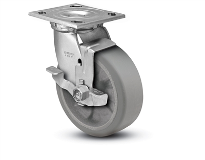 Heavy Duty 4x2 Transforma Swivel Caster with Top Lock Brake