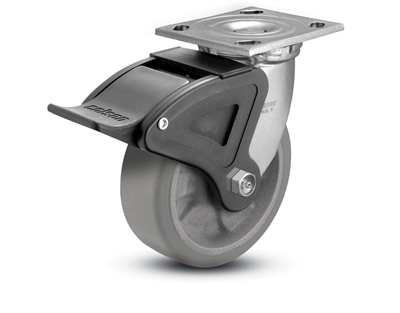 Heavy Duty 5X2 Trans-Forma Swivel Caster with Total Lock Brake