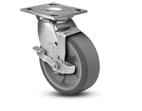 Stainless Steel Heavy Duty 6x2 Transforma HD Swivel Caster with Top Lock Brake
