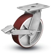 Extra Heavy Duty 6x3 Polyurethane Swivel Caster with Tread Lock
