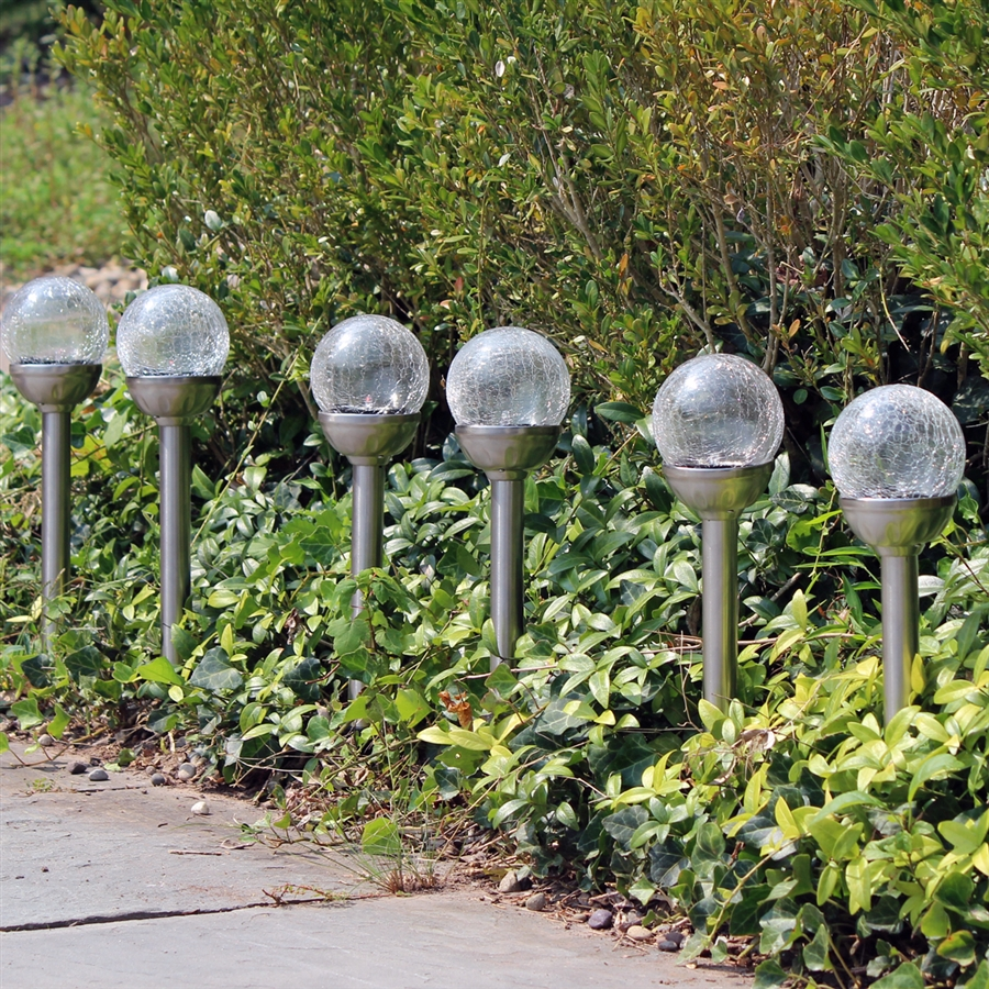 Crackle glass solar color changing white led stainless steel path list price 4499 aloadofball Gallery