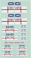Arrow Graphics C-67-48 - Canadian White Ensign (Aircraft Fin Flags)