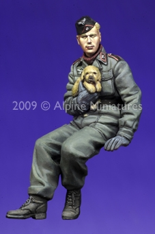 Alpine 35088 - German Panzer Crew with Puppy