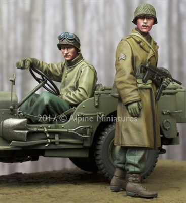 Alpine 35243 - WW2 US NCO & Driver Set (2 figures)