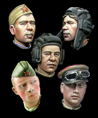 Alpine H014 - WW2 Russian Heads #2