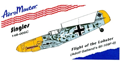 AeroMaster 148-005 - Flight of the Lobster (Adolf Galland's Bf-109F-0)