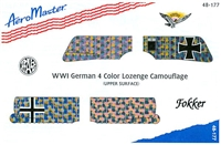 AeroMaster 48-177 WWI German 4 Color Lozenge Camouflage (Upper Surface)