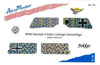 AeroMaster 48-178 WWI German 4 Color Lozenge Camouflage (Under Surface)