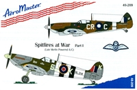 AeroMaster 48-209 Spitfires at War, Part I (Late Merlin Powered A/C)